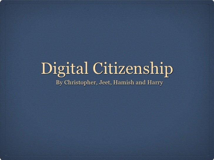 Digital citizenship  1