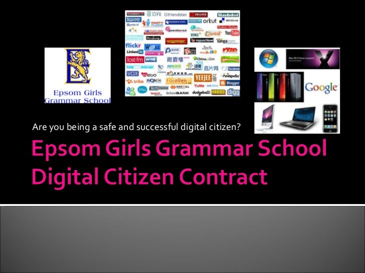 Digital citizenship contract