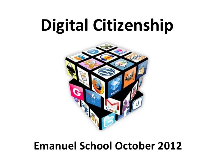 Digital citizenship ~ presentation for schools (oct 2012)