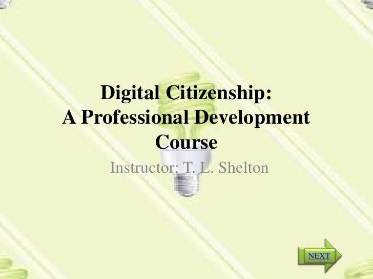 Digital citizenship syllabus -power point