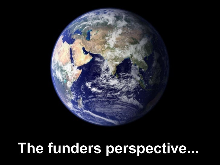 The funders perspective...