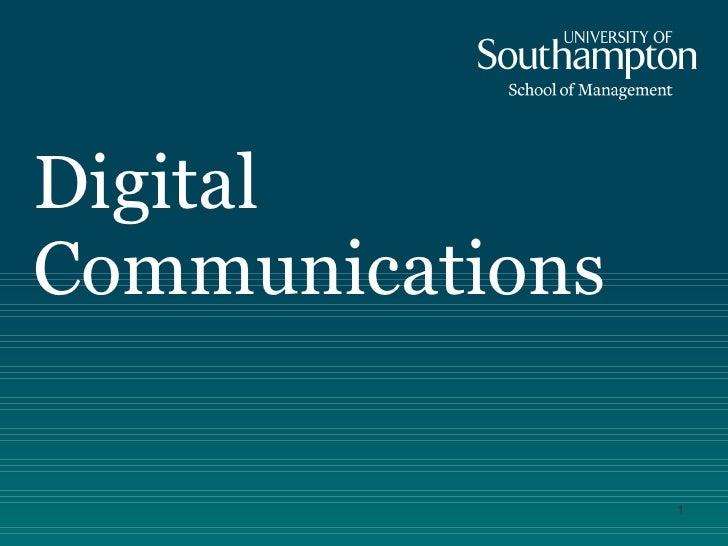 Digital communications 2011 student version