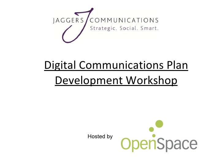 Digital Communications Plan Development Workshop Hosted by
