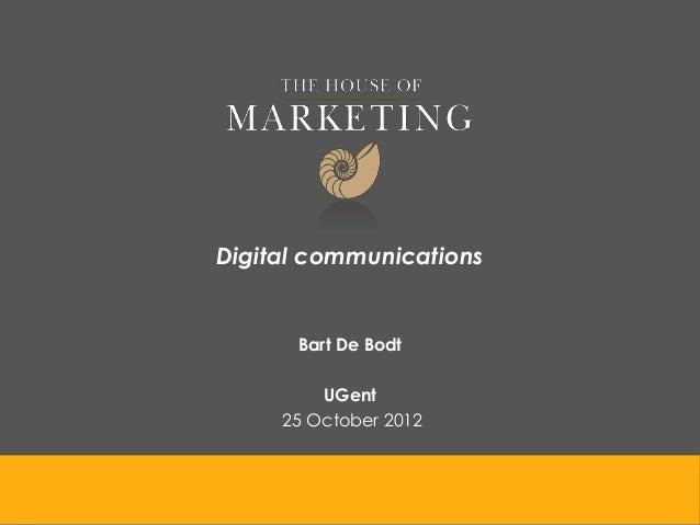 Digital communications      Bart De Bodt         UGent     25 October 2012