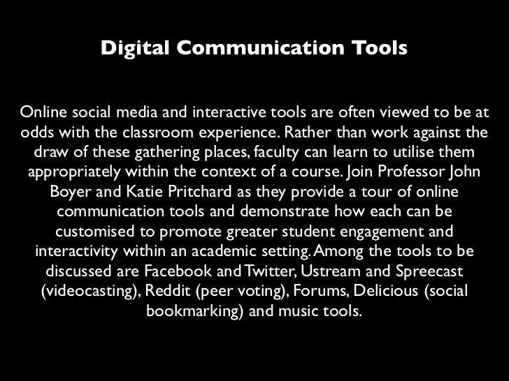 Digital communication tools