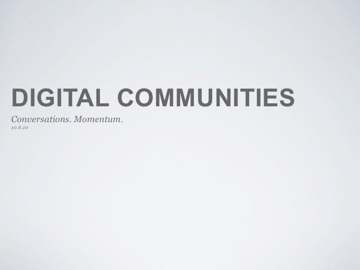 NAMA - Trends in Agriculture Digital communities
