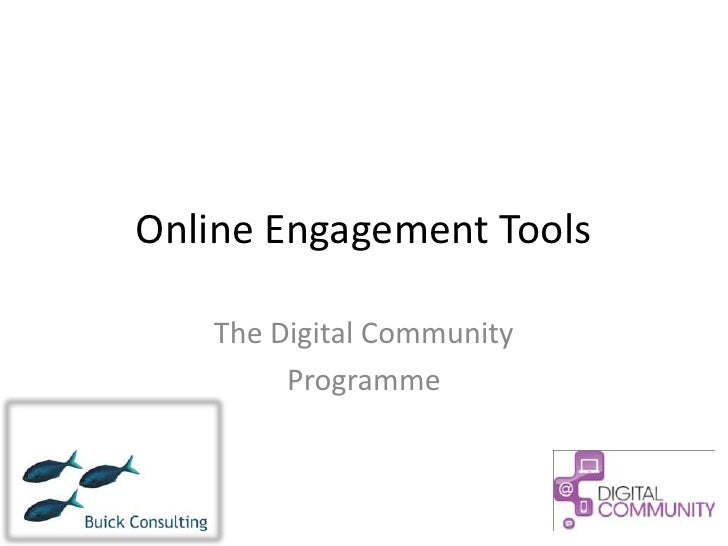 Online Engagement Tools   The Digital Community        Programme