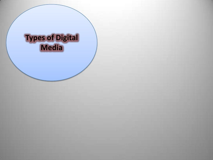 Types of Digital Media<br />