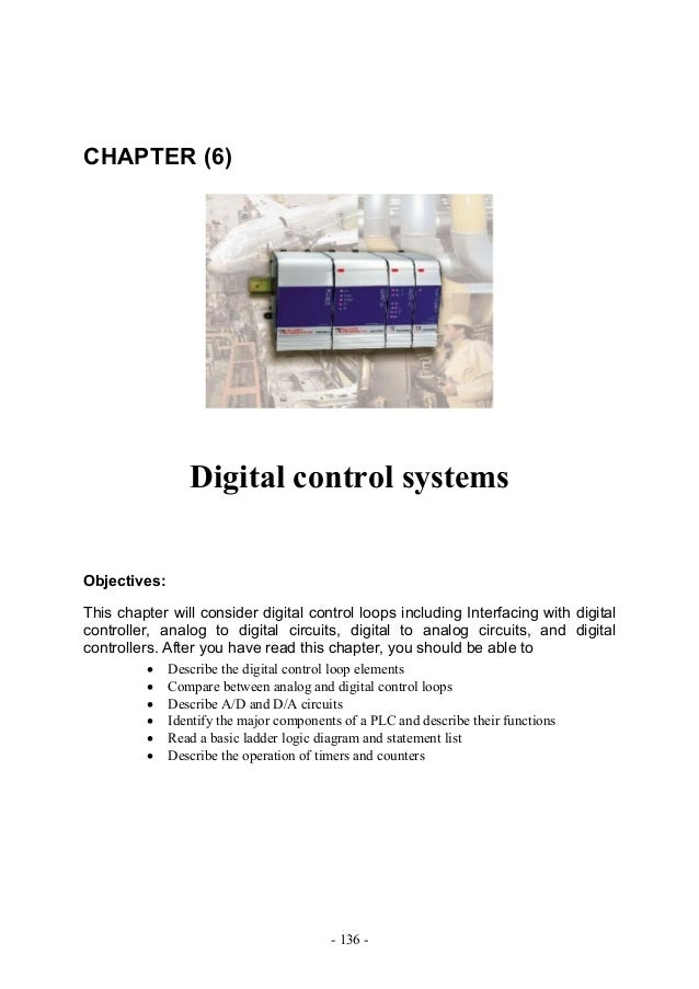 CHAPTER (6)                 Digital control systemsObjectives:This chapter will consider digital control loops including I...