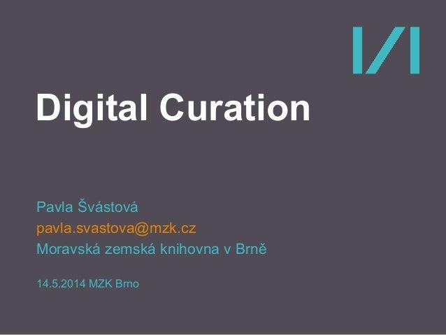 Digital curation