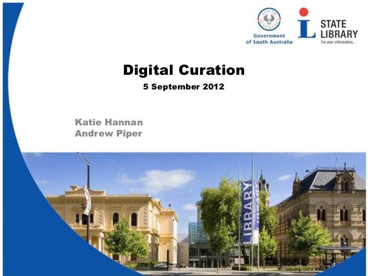 Digital curation - Adult Learners Week