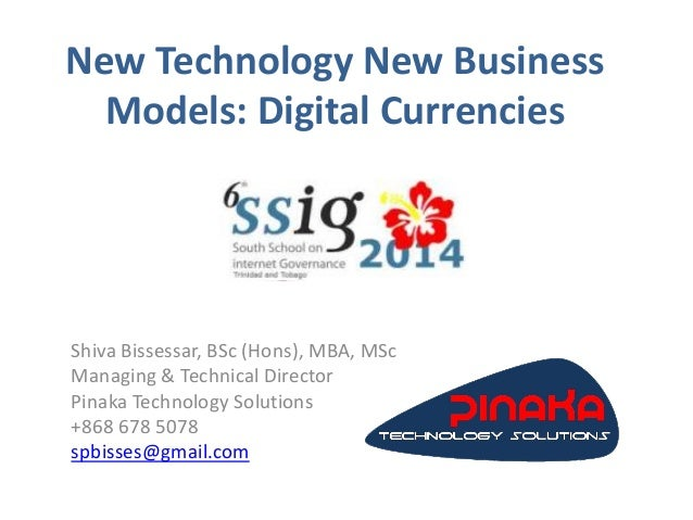 Digital currencies new technology new business model
