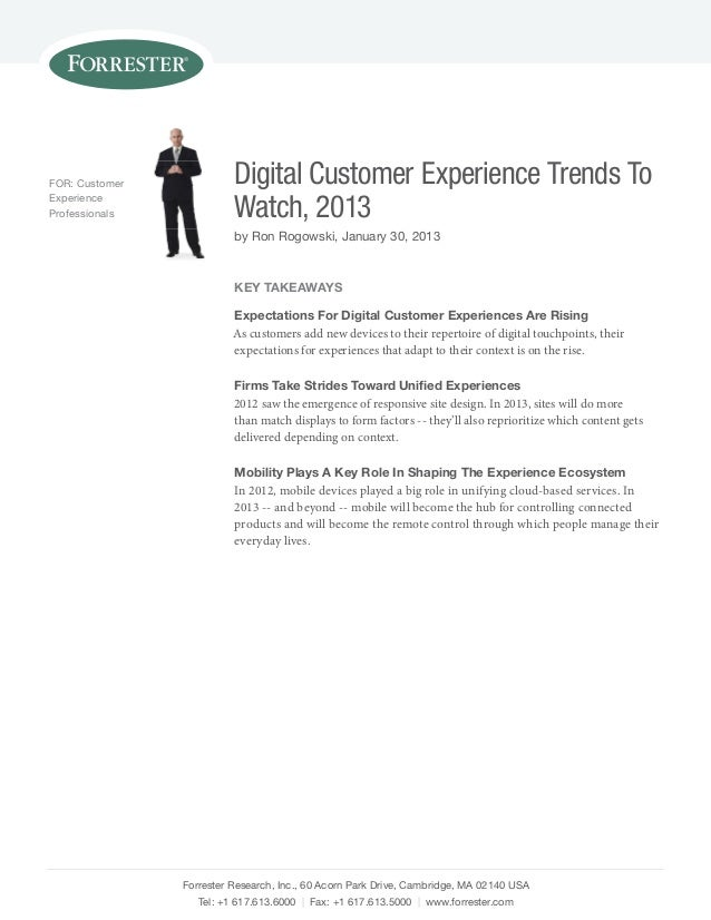 Digital customer experience trends to watch 2013