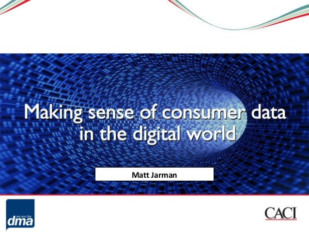Making sense of consumer data in the digital world