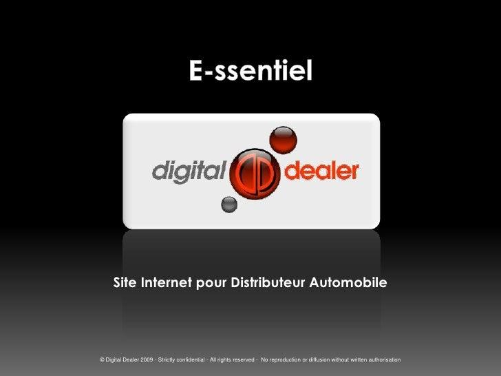 E-ssentiel<br />Site Internet pour Distributeur Automobile<br />