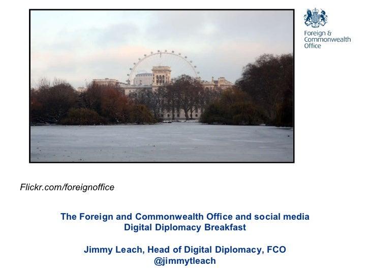 Digital Diplomacy Breakfast Brainstorm Jimmy Leach presentation