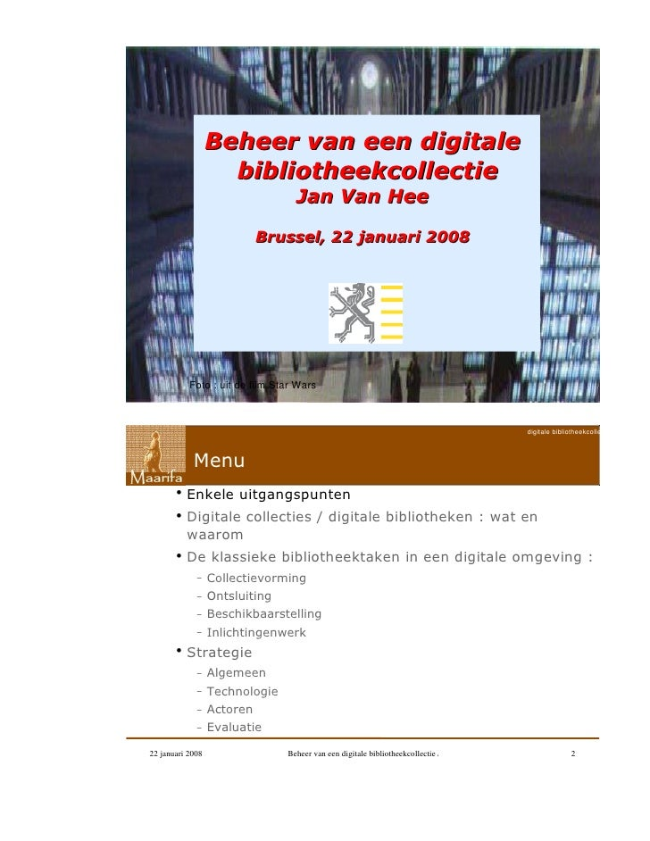 Digitale Bibliotheekcollecties