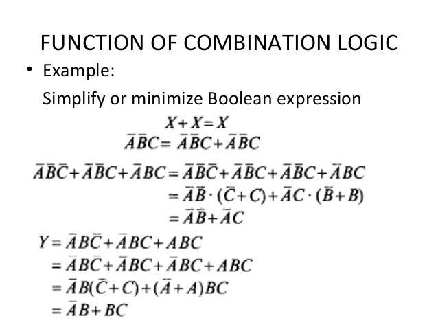 Digital design ... C- Boolean Function Examples