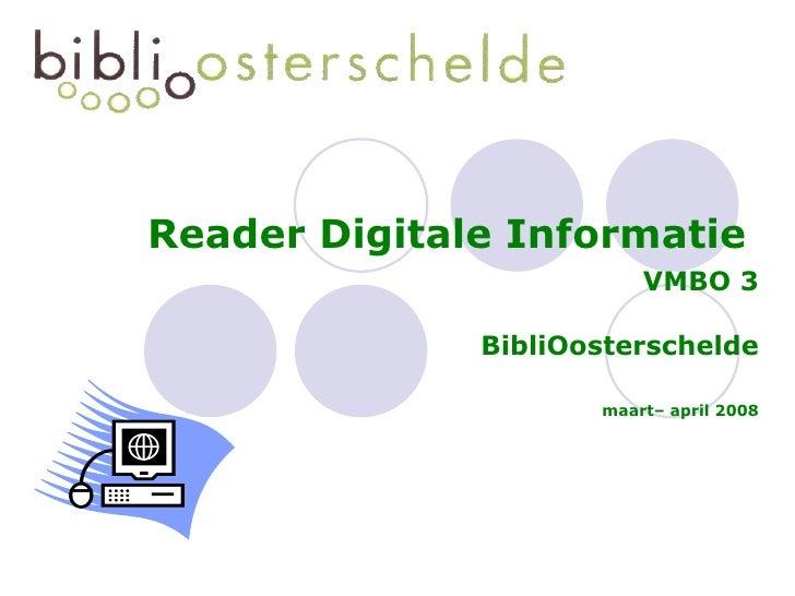 Digitale Informatie Vmbo