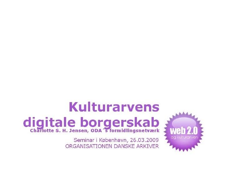 Kulturarvens digitale borgerskab