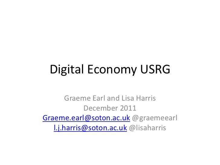 Digital Economy USRG