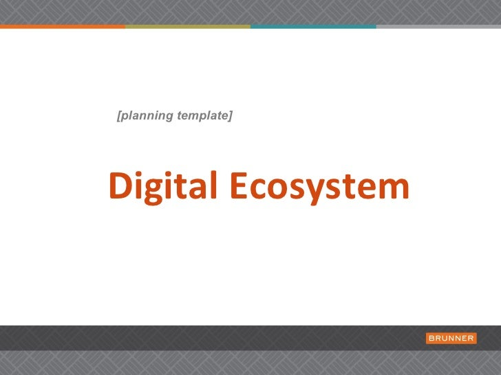 [planning template]Digital Ecosystem