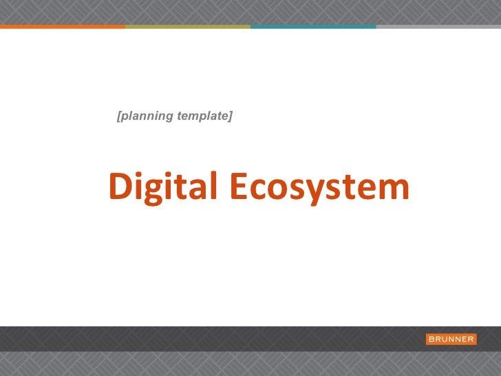 Digital Ecosystem Planning [TEMPLATE]