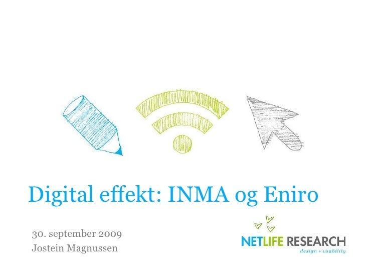 Digital Effekt Trondheim INMA og Eniro
