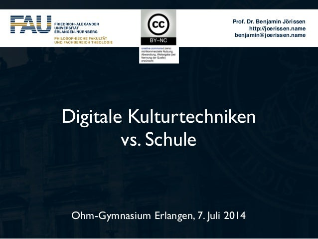 Digitale Kulturtechniken vs. Schule