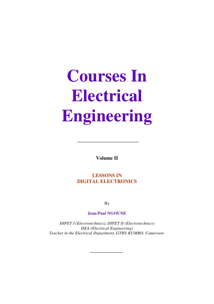 Courses In                    Electrical                   Engineering                                      Volume II     ...