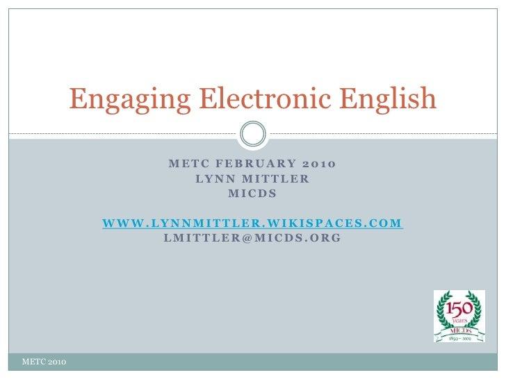 Engaging Electronic English