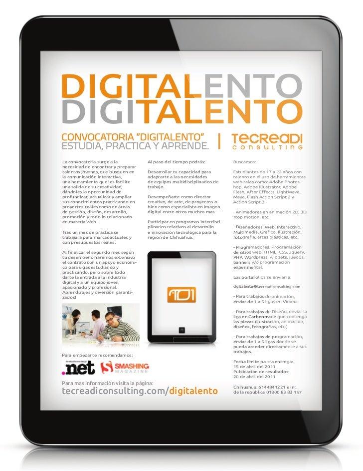 Talento Digital es Digitalento - Un programa de Tecreadi Consulting