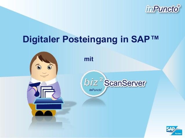 Digitaler Posteingang in SAP™ mit