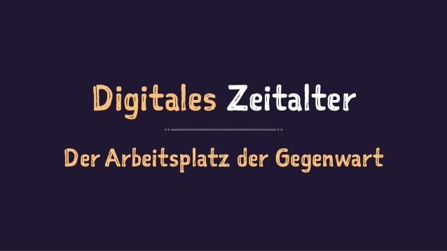 Digitales Zeitalter Der Arbeitsplatz der Gegenwart