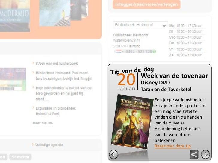 Digitale scheurkalender: mock-up demoversiee