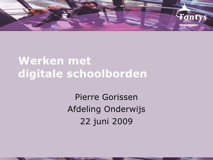 Training Digitale Schoolborden