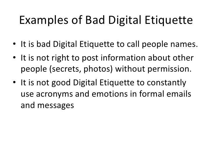 Bad Digital Etiquette