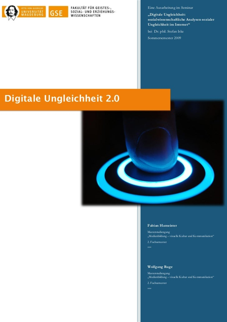 Digitale ungleichheit 2.0 (ausarbeitung)