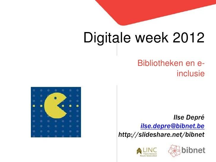 Digitale week en bibliotheken