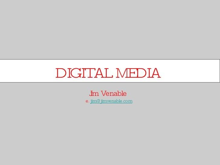 Social and Digital Media for Porfolio