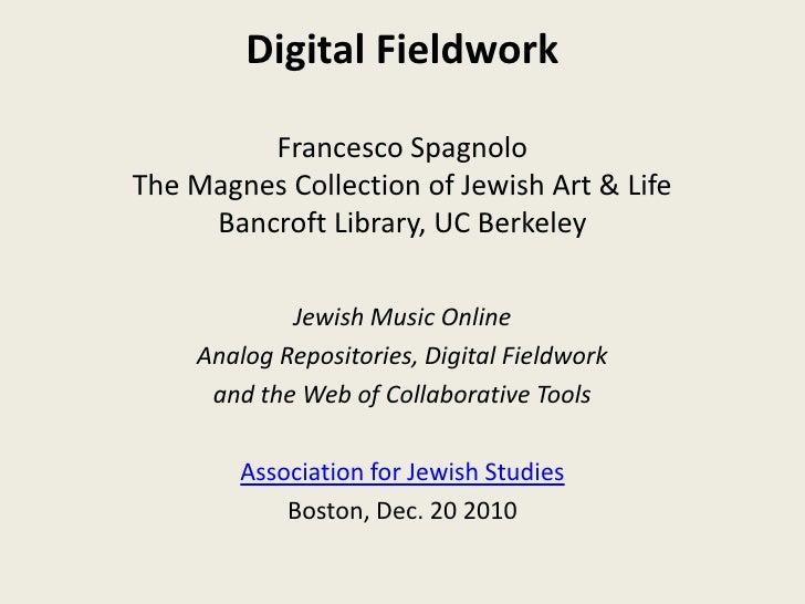Jewish Music Online: Digital Fieldwork