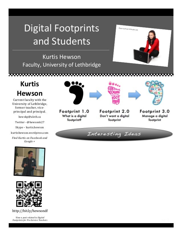 Digital footprints and Students handout