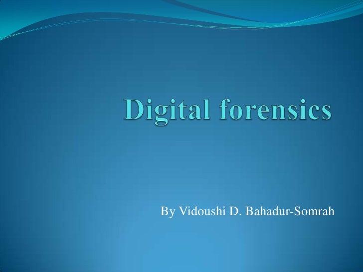 By Vidoushi D. Bahadur-Somrah