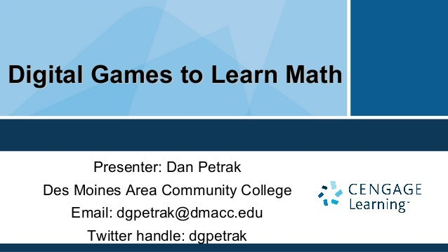 Digital games to learn math presentation