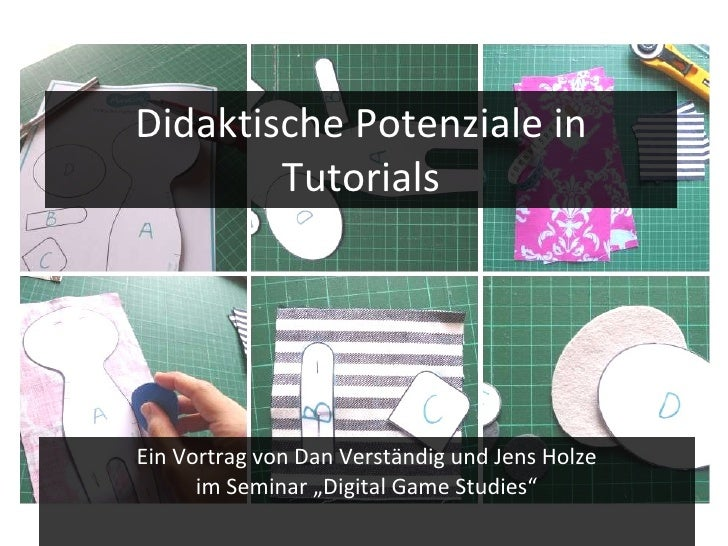 """Didaktische Potenziale in Tutorials Ein Vortrag von Dan Verständig und Jens Holze im Seminar """"Digital Game Studies"""""""