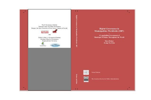 y                                                                    Digital Governance in Municipalities Worldwide 2007  ...