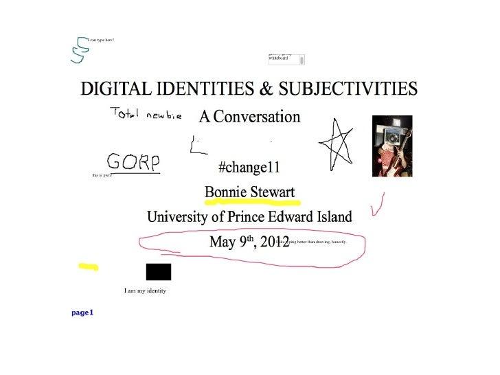 Digital Identities #change11 Live Slides Presentation