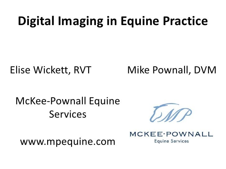 Digital Imaging in Equine Practice