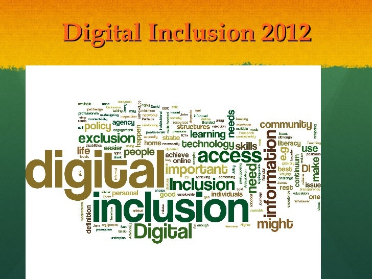 Digital Inclusion Curated Conversation 2012