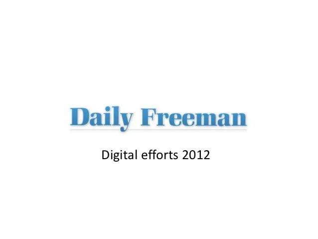 Digital efforts 2012